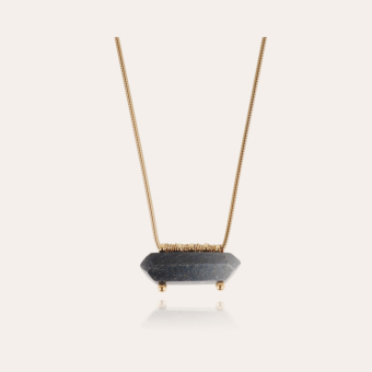 Aventura necklace large size gold - Lazulite