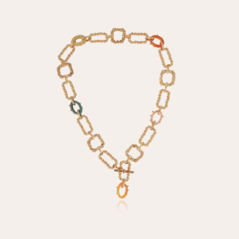 Belem acetate necklace gold