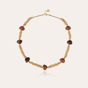 Biba necklace gold - Tortoise