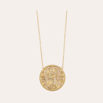 Diva strass necklace gold
