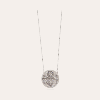 Diva strass necklace small size silver