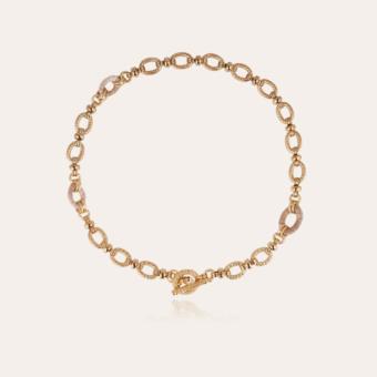 Escale raffia necklace large size gold