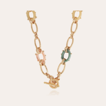 Escale Picot necklace large size acetate gold