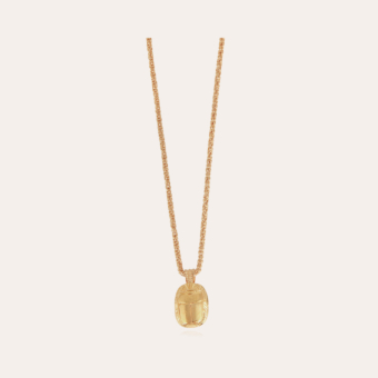 Scarabee necklace gold
