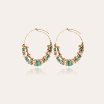 Comedia Serti hoop earrings small size gold