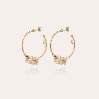 Gaudia hoop earrings small size gold