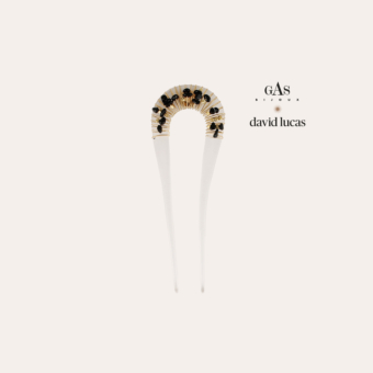 Caliste David Lucas hair jewelry small size acetate gold - Clear
