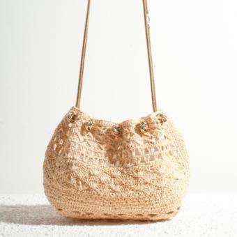 Bourse Chain bag raffia