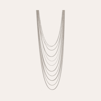 Romeo long necklace silver