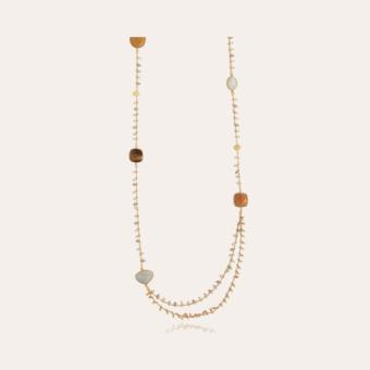 Serti Pondichérie long necklace gold - Exclusive piece (4 pieces)