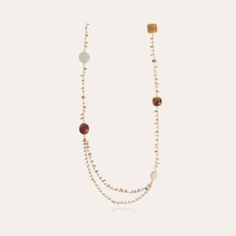 Serti Pondicherie long necklace gold - Exclusive piece (3 pieces)