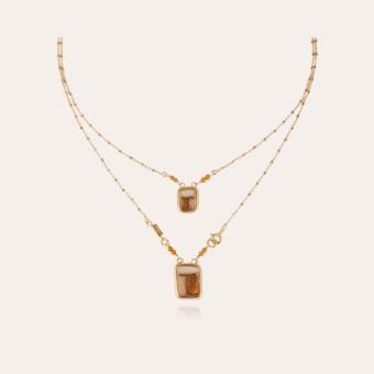 Totem enamel Scapulaire necklace gold