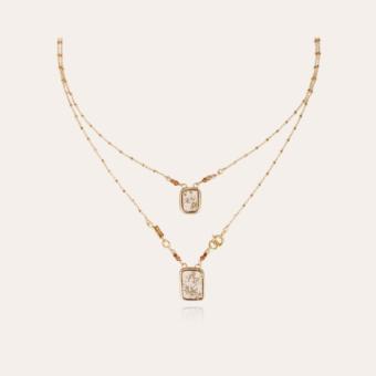 Totem Éclat scapulaire necklace gold