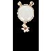 Serti gold - White Moonstone