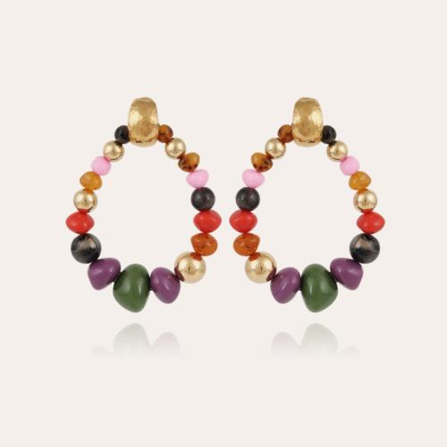 Biba Bis earrings gold - Kaki
