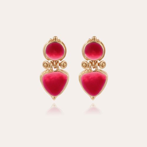 Colorado enamel earrings gold