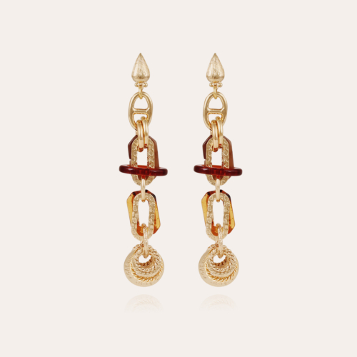 Prato earrings large size acetate gold