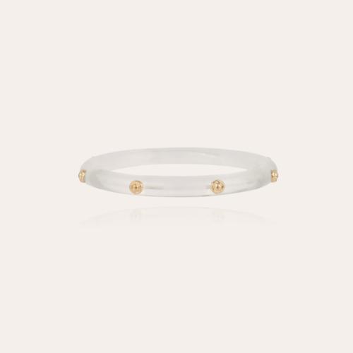 Caftan Bis bracelet acetate gold - Clear