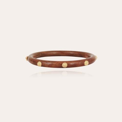 Caftan Bis bracelet acetate gold - Cappuccino