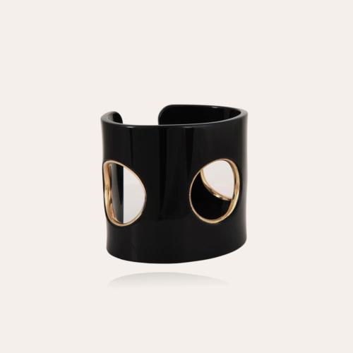 Padova bracelet acetate gold - Black