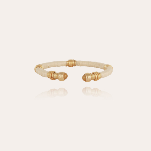 Sari raffia bracelet acetate gold
