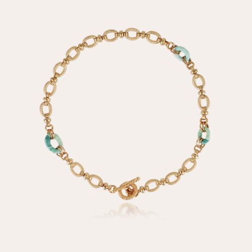 Escale raffia necklace gold