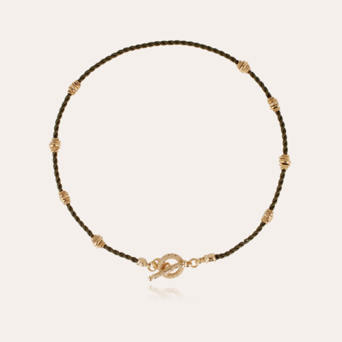 Marquise necklace small size gold