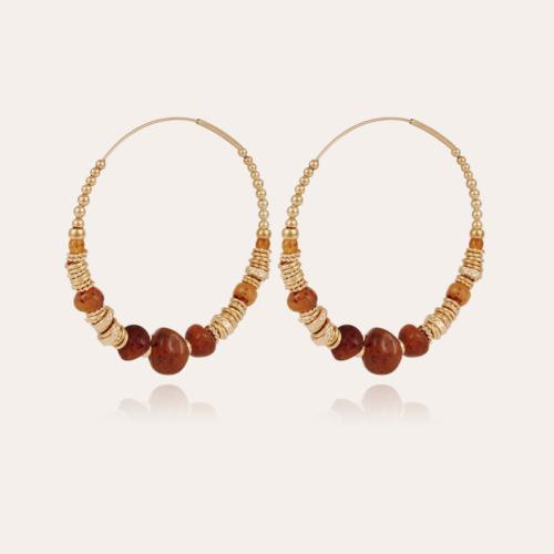 Biba hoop earrings gold - Tortoise