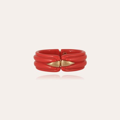 Ecume bracelet gold - Coral