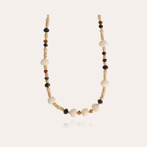 Biba long necklace acetate gold