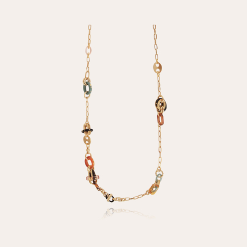 Prato long necklace acetate gold