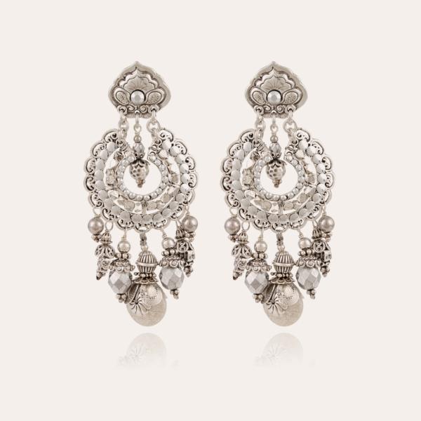 Aicha earrings large size silver