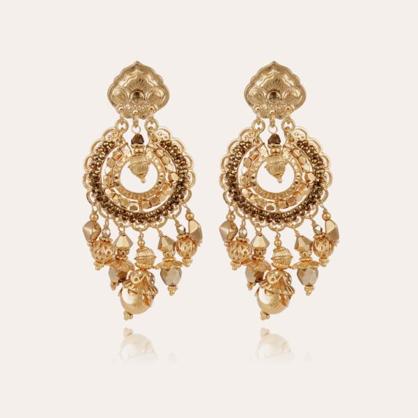 Aicha earrings large size gold