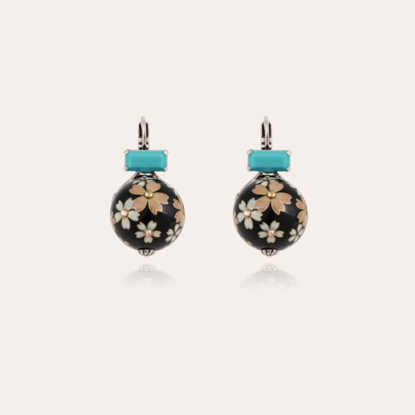 Decalco earrings silver