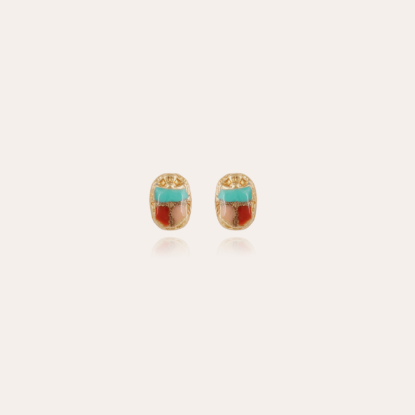 Scaramouche studs earrings gold