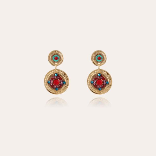 Sequin earrings gold