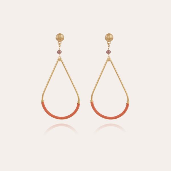 Zanzibar earrings small size gold