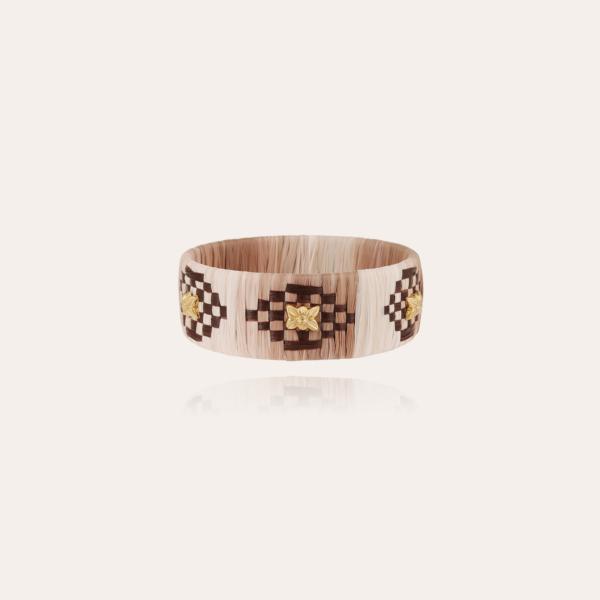 Rofia bracelet large size gold