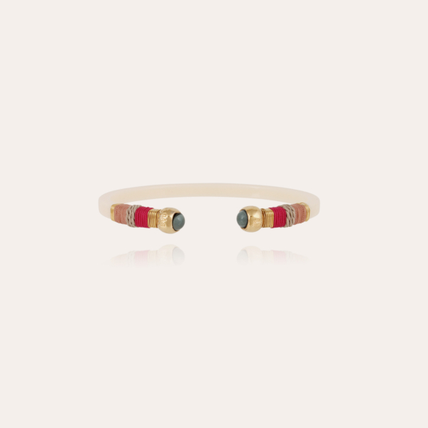 Sari Bis bracelet acetate gold - Ivory