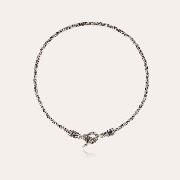 Maglia necklace silver