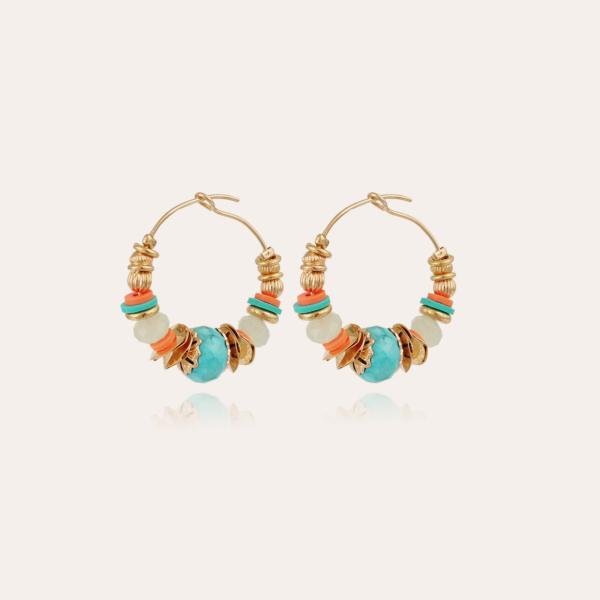 Aloha hoop earrings mini gold