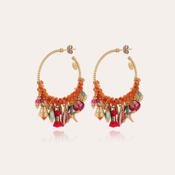 Anastasia hoop earrings mini gold - Exclusive piece (3 pieces)
