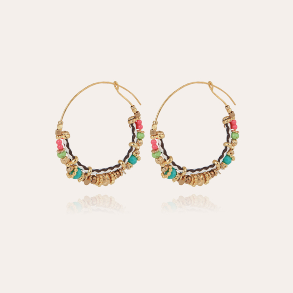 Comedia hoop earrings small size gold