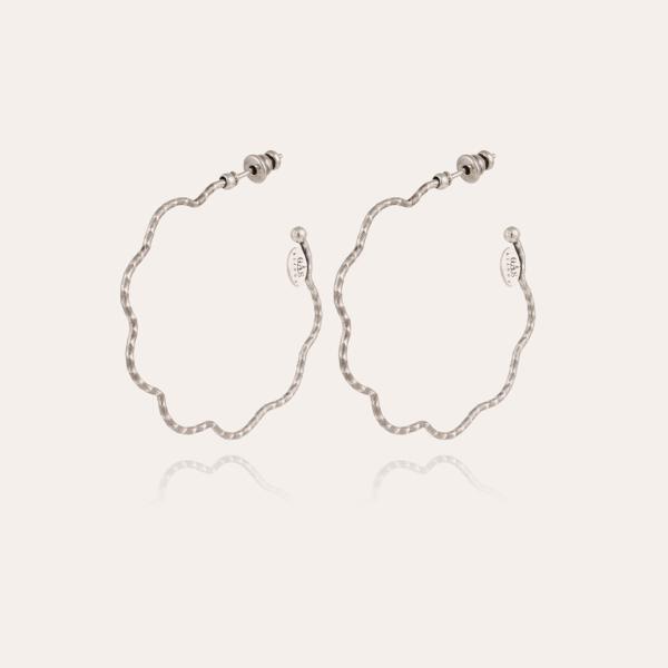 Florette hoop earrings small size silver