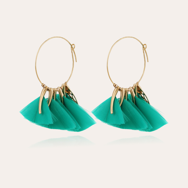 Marly hoop earrings small size gold