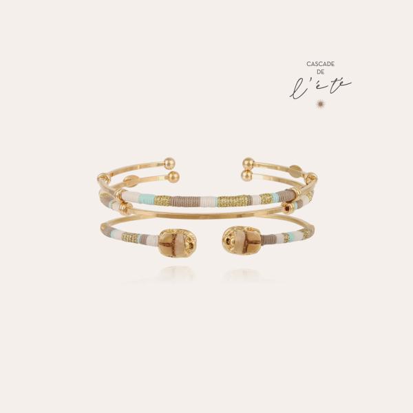Summer bracelets - Scaramouche & Zanzibar gold