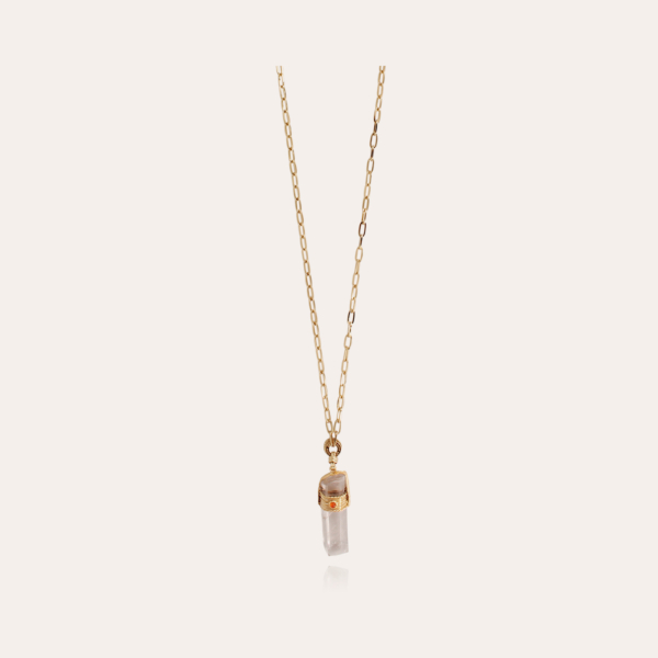 Cristal Serti long necklace gold - Exclusive piece