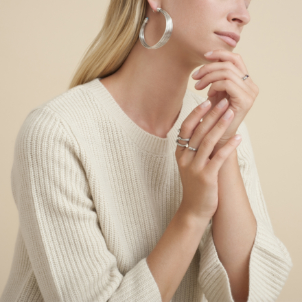Ariane Liane cabochons ring silver