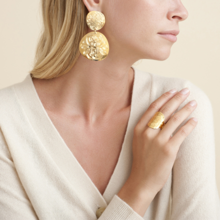 Diva Cloud earrings gold