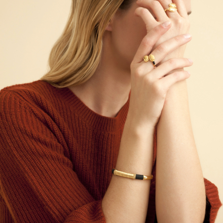 Duality Scaramouche ring gold